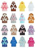 Girls Childrens Dressing Gown Novelty Hooded Super Soft Dress Up Or Patterns