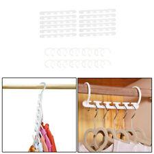 10pcs Plastic Magic Hanger Wardrobe Closet Bar Clothes Organizer Space Saver