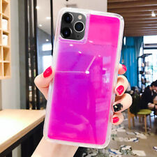 Glow Luminous For iPhone 11 Dynamic Quicksand Liquid Neon Sand Smartphone Cover