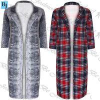 Womens Cardigan Ladies Coatigans Animal Print Longline Open Front Blazer Jacket