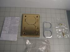 Hubbell S3825 Scrubshield Floor Box Cover, Rectangular, Duplex Flap NEW