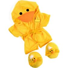 "Duck Bathrobe & Slippers outfit teddy bear clothes fits 15"" Build a Bear"
