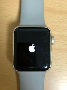 Apple Watch Series 2 38mm Gold Aluminum Case, Concrete Sport Band Smart Watch