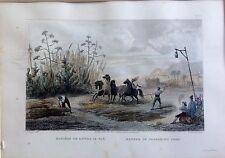 TRILLA, Grabado original del baron Taylor, 1826