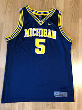 Vintage Jalen Rose #5 Michigan Wolverines Nike Jersey Fab 5 NCAA Size XL Youth