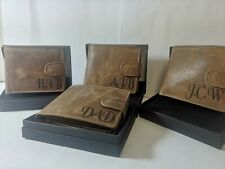Personalised Leather RFID Protected wallet, Groomsman, bestman, usher, wedding