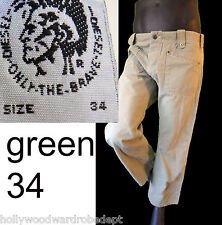 DIESEL pant Pale green backward 34 hippy distressed straight leg short