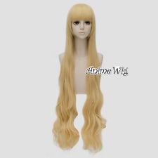 120CM For Fairy Tail Mavis Vermilion Light Blonde Long Women Anime Cosplay Wig