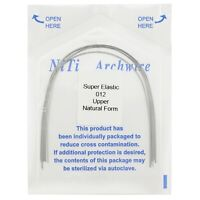 10pcs Dental Orthodontic Super Elastic Niti Arch Wires Natural Form Round U/L