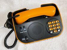 French TELIC - Electronic, Pulse-Dialling, Push-Button Desk Telephone - Orange