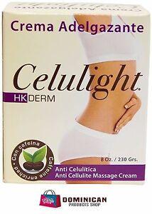 HK DERM CELULIGHT Thermoactive Massage and Slendering Cream 8 OZ BRASIL JAPAN