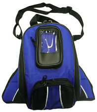 Vance Leather Magnetic Tank Bag with Reflective Piping - Blue