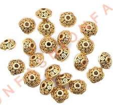 500pcs Rondelle Antique Metal Alloy Bicone Spacer Beads 6mm for Jewelry Making