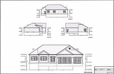 Full Set of single story 3 bedroom house plans 1,960 sq ft