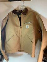 Vintage Carhartt 6BLJ Mens 48 Denim Blanket Lined Jean Jacket Detroit J01BRN USA