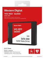 "WD 4TB SSD RED NAS 2.5"" SATA III Internal Solid State Drive SA500 6GB/s 560MB/s"