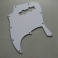 JAZZ BASS PICKGUARD WHITE 3 PLY FOR ELECTRIC BASS GUITAR