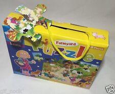 NUOVO 48 Pezzi Bambini Kids CREATE GIOCO FATTORIA PUZZLE divertente ed educativo
