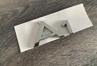 AUDI A1 CHROME REAR BADGE CUSTOM A1 TDI S LINE TFSI SILVER EDITION UK STOCK