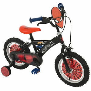 "Spiderman 14"" Bike Kids/Children Removable Stabilisers"