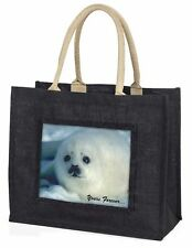 Snow Seal 'Yours Forever' Large Black Shopping Bag Christmas Present , AF-S14BLB