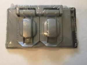 Steel City 25123 Duplex Outlet Cover, Silver, Thomas & Betts