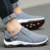 Men's Sneakers Breathable Casual Shoes Slip On Outdoor Hiking Climbing Shoes