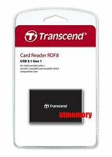 Transcend RDF8 Card Reader USB3.1 for CF/SD/SDHC/SDXC/Micro SD SDHC SDXC US