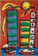 Peter Robert Keil acrylique signée art abstrait abstraction German painter art