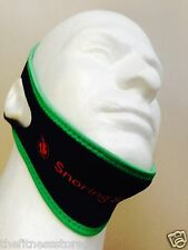 "Genuine ""Snoring Solutions"" Chin Strap Anti Snore Jaw Belt-Size M (Medium) GREEN"