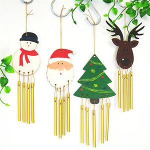 Christmas Wooden Wind Chimes Hand Painted Material Package Children Gift CB