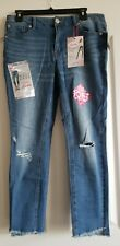 Almost Famous Size 11 Mid Rise Ankle Stretch Distressed Jeans juniors jeans