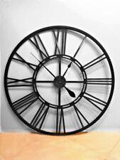 Handmade Huge Black Wall Clock 100 cm Metal Industrial Vintage French Provincial