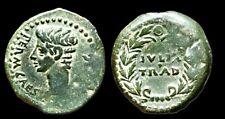 Rare Roman Empire: Augustus, AE Bronze, 37AD Julia Traducta 27m 7.8gm Dupondius