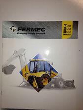 Fermec 700-800 & 900 - B Series Backhoe Loader Sales Brochure & specifications.