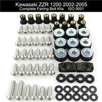 Fit For Kawasaki ZZR 1200 2002-2005 2004 Stainless Steel Full Fairing Bolts Kit