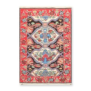 """3'10"""" x 5'10"""" Nourison Nourmak Hand Knotted Mission Style Reversible Area Rug"""