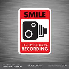 SKU120-vehículo cámara de grabación coche signo en la etiqueta engomada-Cctv-Go Pro-dashcam