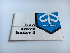 Piaggio Bravo Boxer 2 Bedienungsanleitung / Fahrerhandbuch