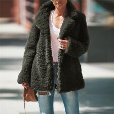 Womens Teddy Bear Coat Fleece Jacket Jumper Winter Warm Casual Overcoat Outwear
