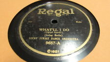 IRVING BERLIN REGEL 78 RPM RECORD 9657 WHAT'LL I DO