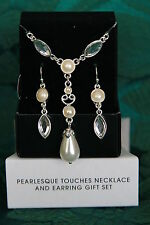 AVON  PEARLESQUE TOUCHES NECKLACE & PIERCED EARRINGS GIFT SET