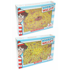 2x 300pc Where's Wally Game Players/Gold Rush 61cm Jigsaw Puzzle Educational Kid