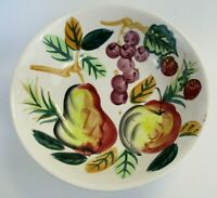 Fruit Bowl Hand Painted Vintage Decorative Centerpiece