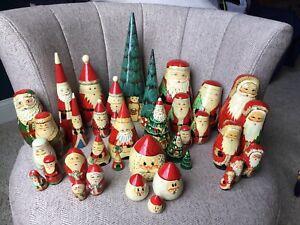 Set of 10 Vintage Christmas Theme Nesting Doll Sets