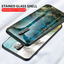 Marble Tempered Glass Case Soft Edge Hard Cover For Nokia 3.2 X71 4.2 9 7.1 Plus