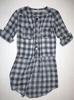 Lucy Love Womens Carter Sheer Tunic Dress Shirt Top Small