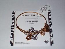 """NWT Alex and Ani Goldtone """"True Wish"""" Dream Star Charm Flex Bangle Bracelet"""