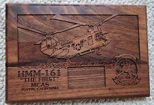 """USMC HMM-161 The 1st MCAS 6""""x9"""" Wood Plaque"""
