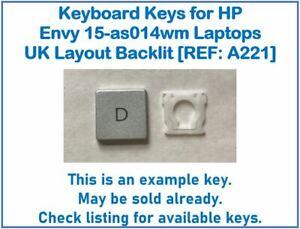 Keyboard Keys for HP Envy 15-as014wm Laptops UK Layout Backlit [REF: A221]